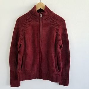 Lucky Brand Chunky Knit Full Zip Sweater Jacket S